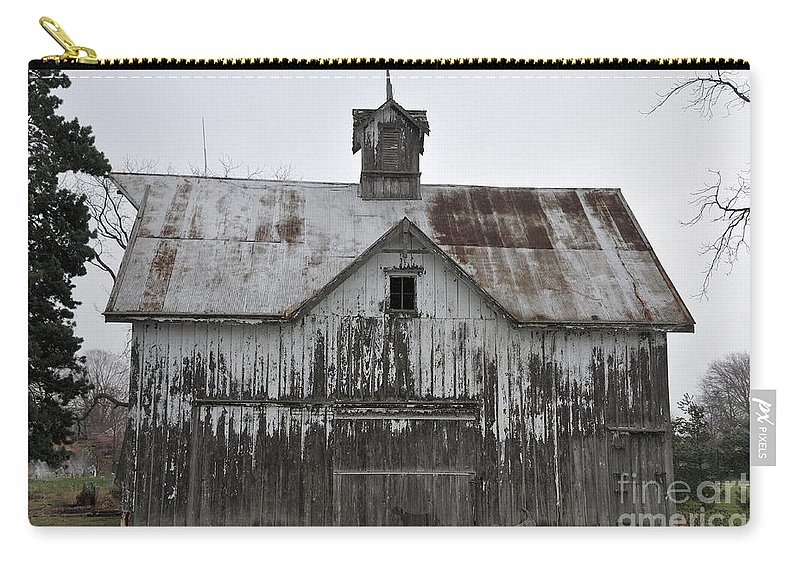 White Barn Carry-all Pouch featuring the photograph Shadow Of The Dog by David Arment