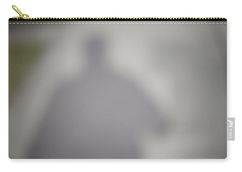 Shadow Carry-all Pouch featuring the photograph Shadow On Sidewalk by Steven Dunn