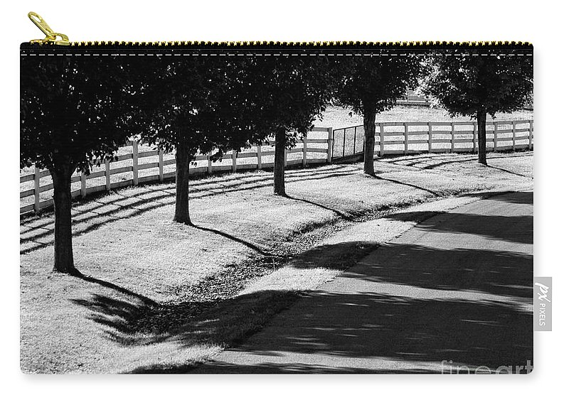 Bw Carry-all Pouch featuring the photograph Shadow Patterns by Claudia Kuhn