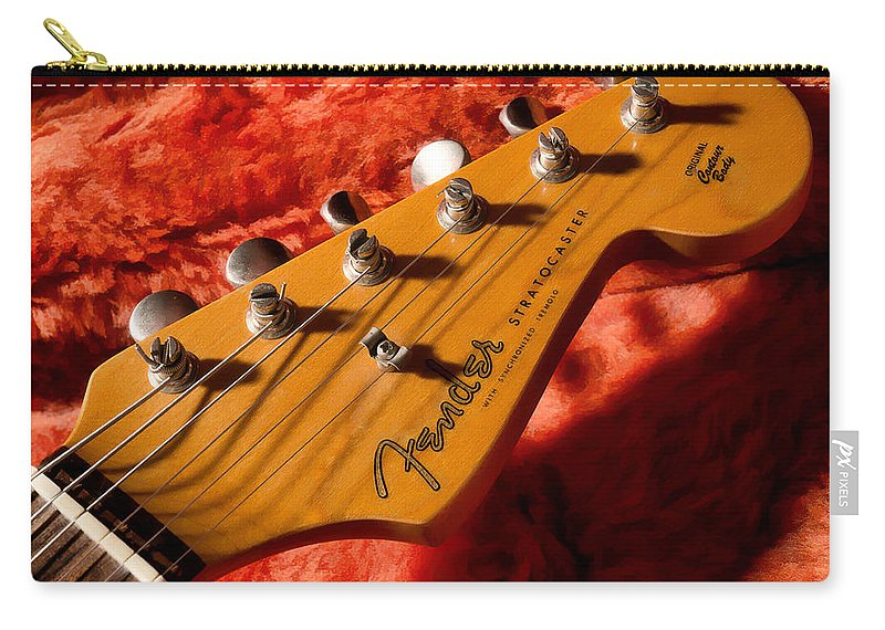 Guitar Carry-all Pouch featuring the digital art Shadowcaster by Douglas Pittman