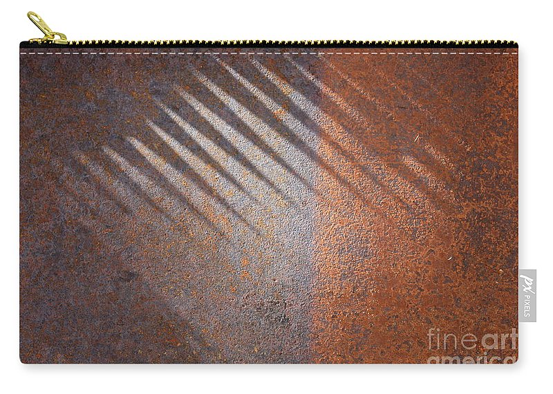 Rust Carry-all Pouch featuring the photograph Shadows And Rust by Carol Groenen