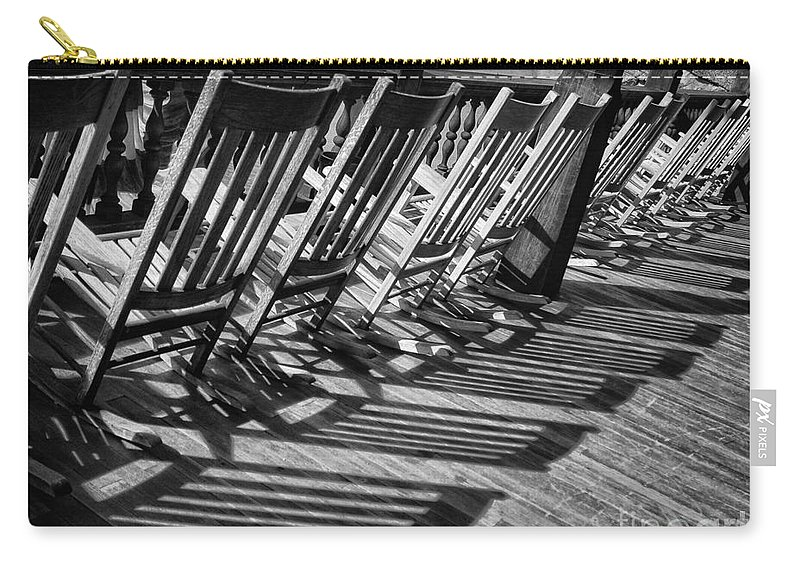 Porch Carry-all Pouch featuring the photograph Shadows by Claudia Kuhn