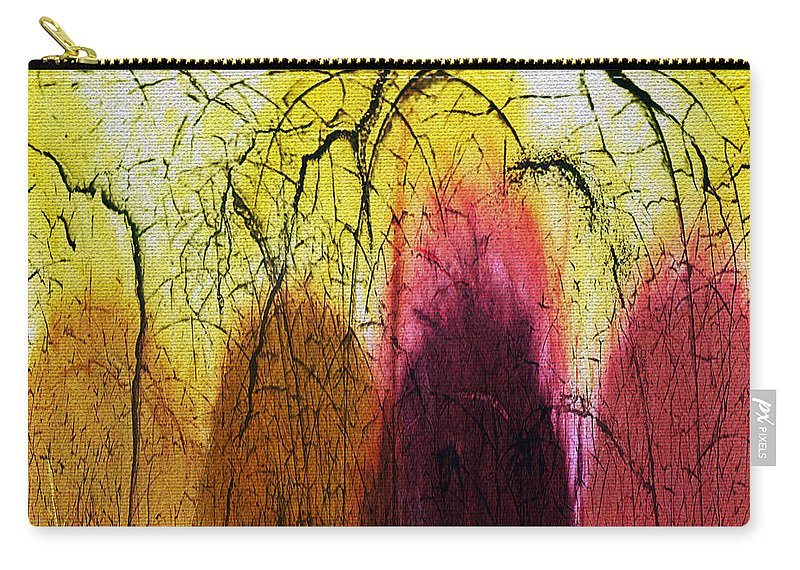 Abstract Carry-all Pouch featuring the digital art Shadows In The Grove by Absinthe Art By Michelle LeAnn Scott
