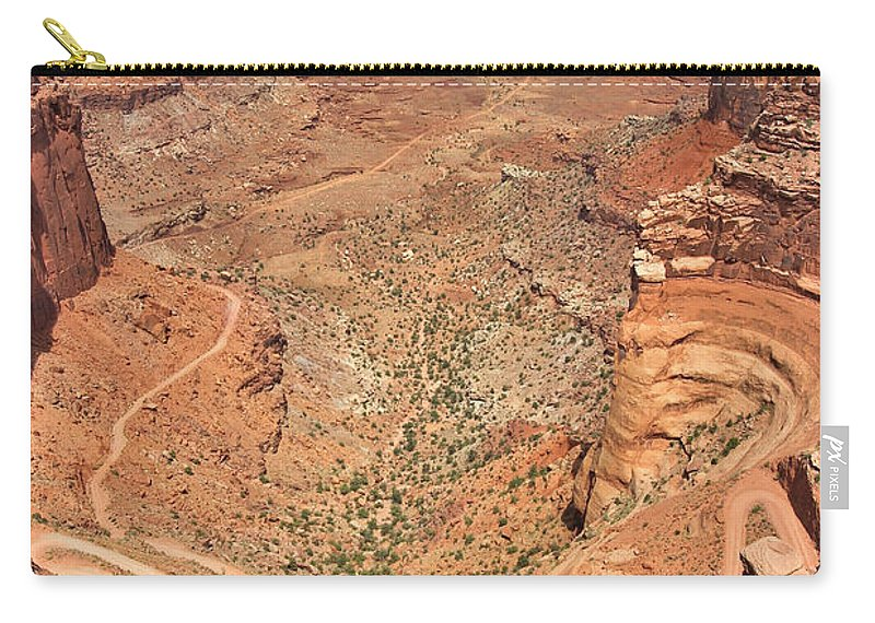 3scape Carry-all Pouch featuring the photograph Shafer Trail by Adam Romanowicz