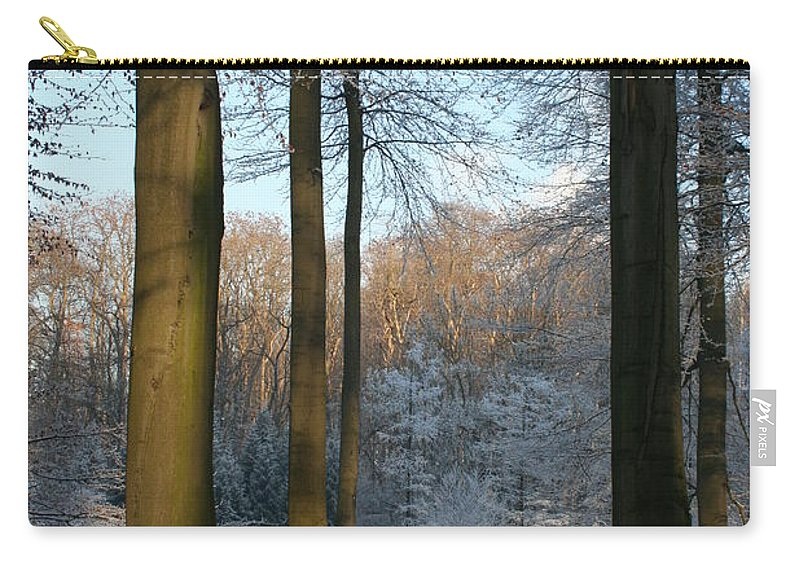 Sunlight Carry-all Pouch featuring the photograph Light And Shadows In Wintertime by Christiane Schulze Art And Photography