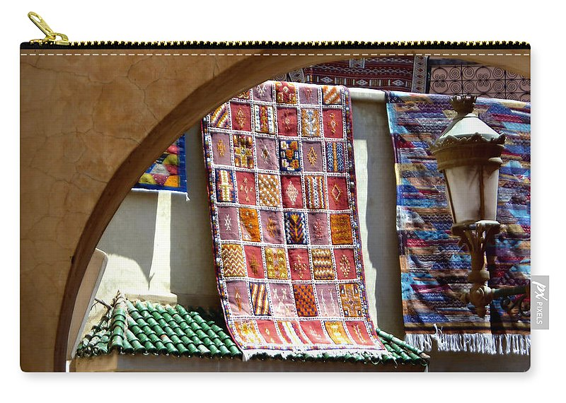 Morocco Carry-all Pouch featuring the photograph Shake It Out.. by A Rey