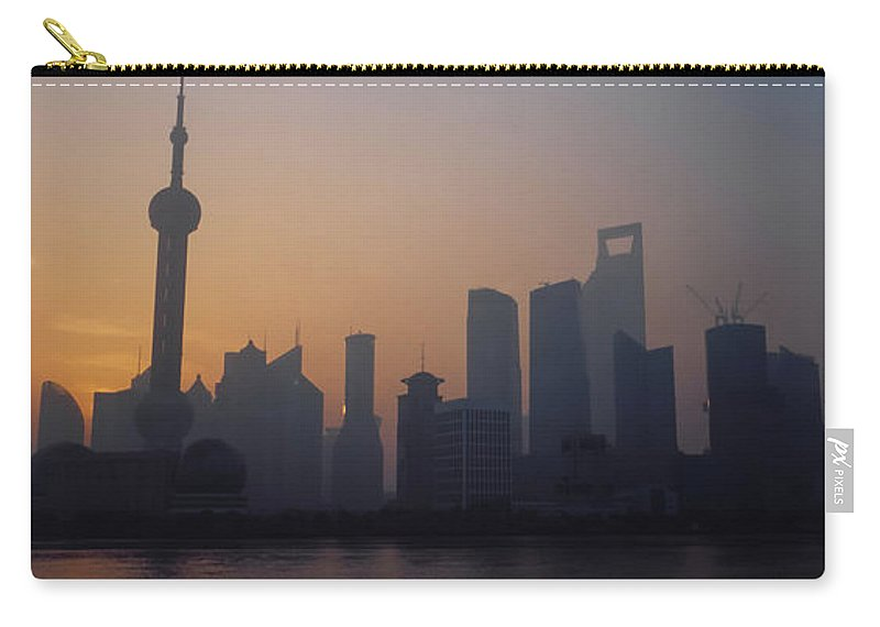 Tranquility Carry-all Pouch featuring the photograph Shanghai In Early Morning by Xijia Cao