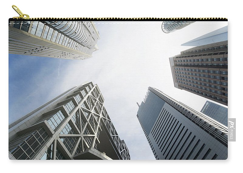 Downtown District Carry-all Pouch featuring the photograph Shanghai Stock Exchange,china - East by Zyxeos30