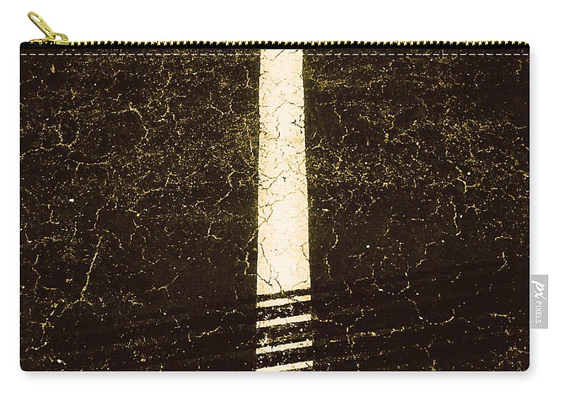 Abstract Carry-all Pouch featuring the photograph Shape No.35 Brownish Version by Fei A