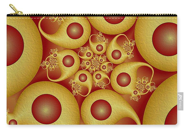 Digital Art Carry-all Pouch featuring the digital art Shapes by Gabiw Art