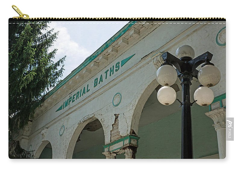 Sharon Springs New York Carry-all Pouch featuring the photograph Sharon Springs Imperial Bath 2 by Photographic Arts And Design Studio