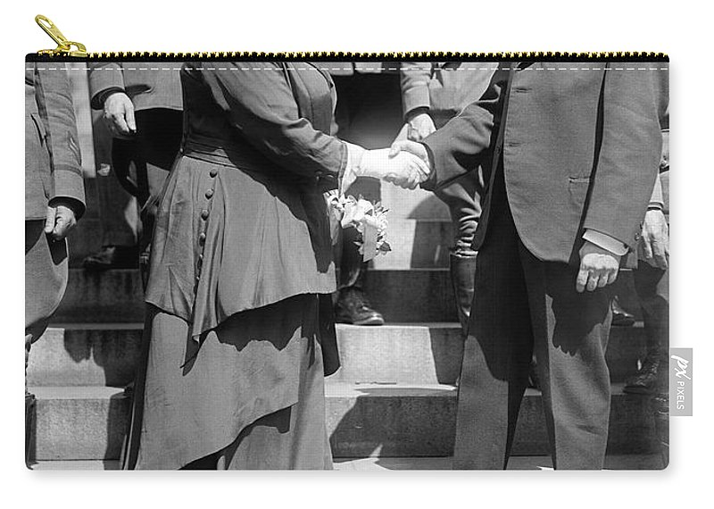 1919 Carry-all Pouch featuring the photograph Shaw & Baker, C1919 by Granger