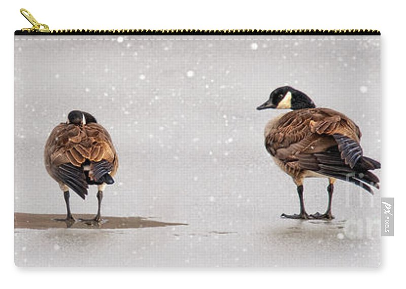 Shawnee State Park Carry-all Pouch featuring the photograph Shawnee Park Geese by Timothy Flanigan and Debbie Flanigan Nature Exposure