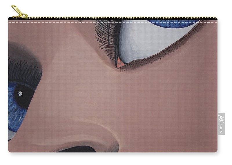 Eye Catching Carry-all Pouch featuring the painting SHE by Dean Stephens