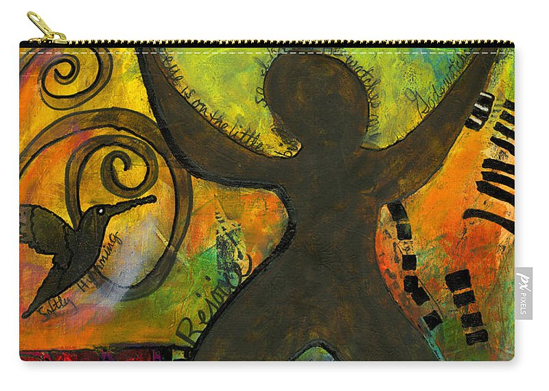 Women Carry-all Pouch featuring the mixed media She Rejoices Singing Sweet Songs Of Triumph by Angela L Walker