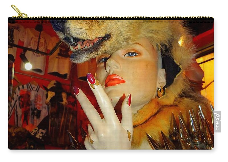 Mannequins Carry-all Pouch featuring the photograph She Wolf by Ed Weidman