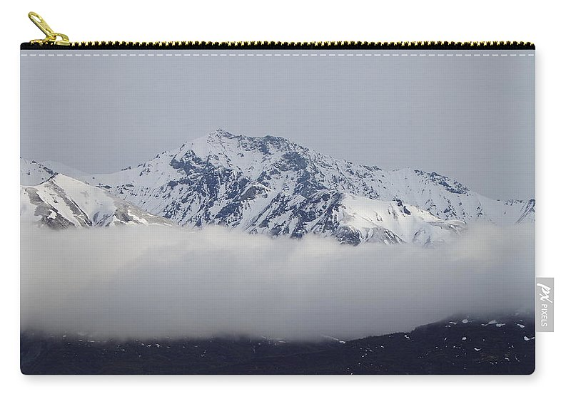Sheep Mountain Carry-all Pouch featuring the photograph Sheep Mountain Storm by Mike Wheeler
