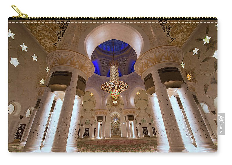 Arch Carry-all Pouch featuring the photograph Sheikh Zayed Grand Mosque by Dany Eid Photography