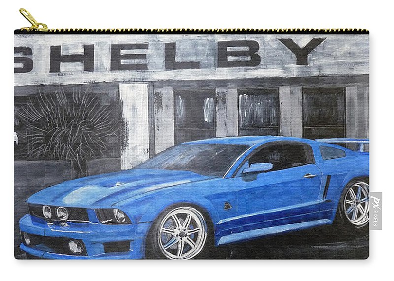 Shelby Carry-all Pouch featuring the painting Shelby Mustang by Richard Le Page