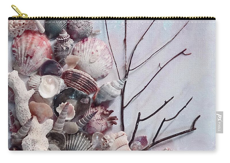 Sea Shells Carry-all Pouch featuring the photograph Shell Bouquet No 6 by Karin Dawn Kelshall- Best