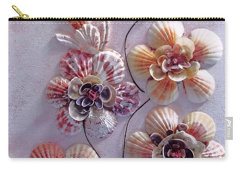 Sea Shells Carry-all Pouch featuring the photograph Shell Flowers No 1 by Karin Dawn Kelshall- Best