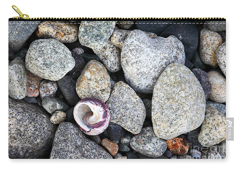 Seashell Carry-all Pouch featuring the photograph Shell On The Shore 1 by James Brunker