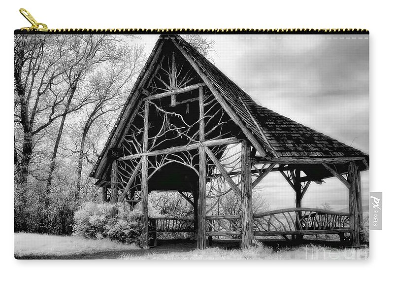 Poets Walk Carry-all Pouch featuring the photograph Shelter From The Storm by Claudia Kuhn