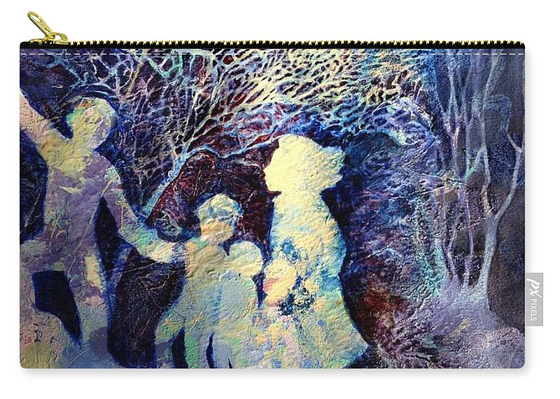Family Carry-all Pouch featuring the painting Shelter From The Storm by Marilyn Jacobson