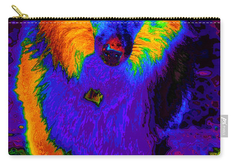 Shelti Carry-all Pouch featuring the photograph Sheltie Pop Art by Eti Reid