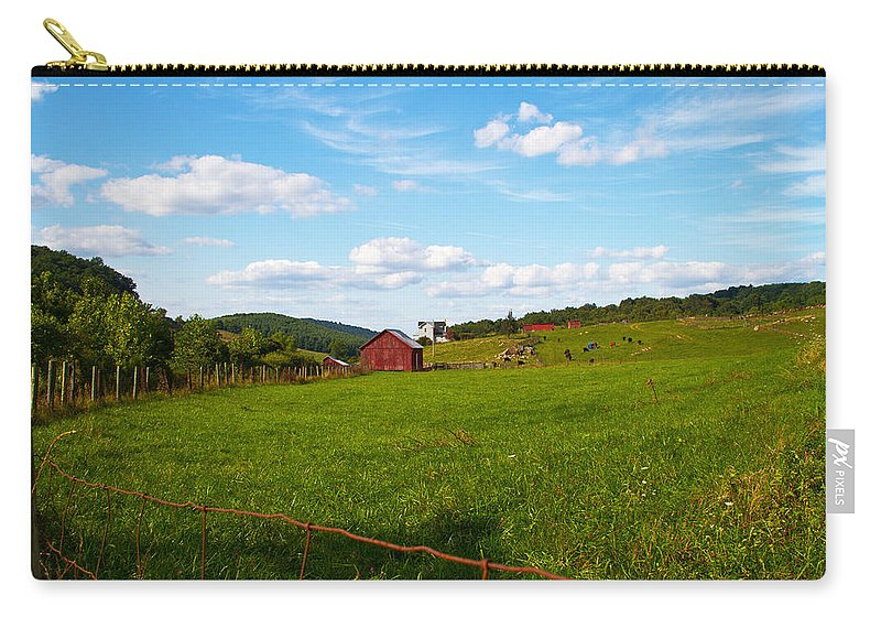 Farm Carry-all Pouch featuring the photograph Shenandoah Farm by Guy Shultz