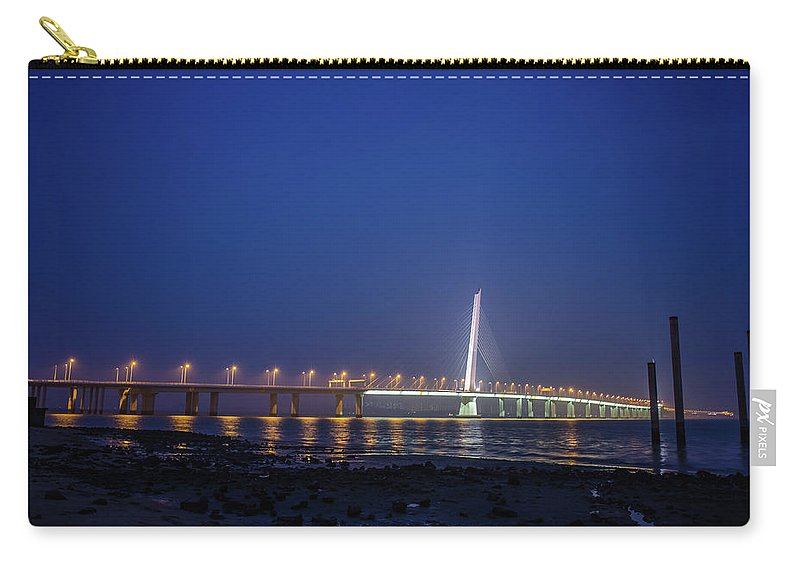 Tranquility Carry-all Pouch featuring the photograph Shenzhen Bay Bridge by Jeff Chen