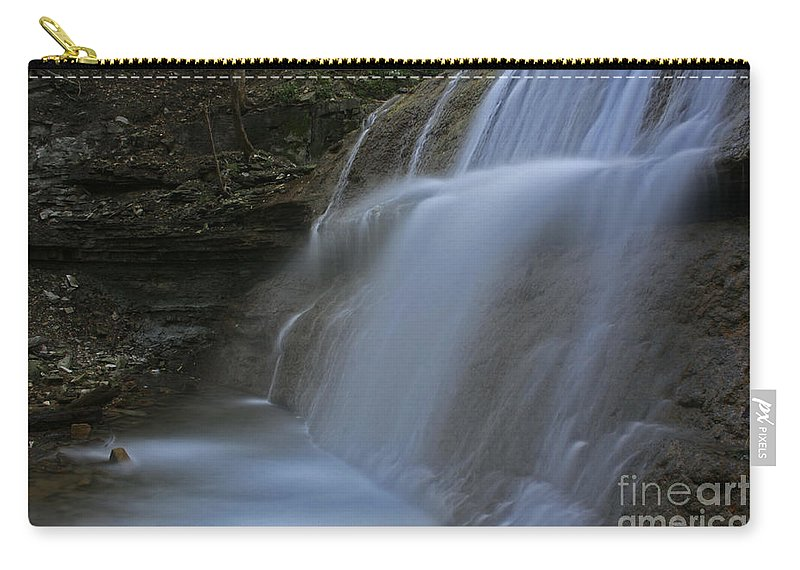 Waterfall Carry-all Pouch featuring the photograph Sherman Falls by Barbara McMahon