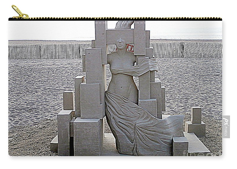 Sand Castles Carry-all Pouch featuring the photograph She's Come Undone by Eunice Miller
