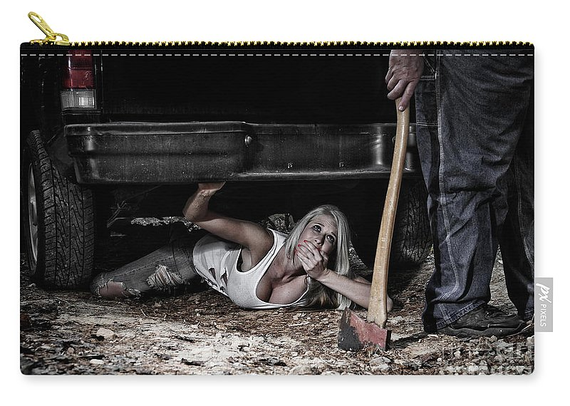 Halloween Carry-all Pouch featuring the photograph Shhh Don't Make A Sound by Jt PhotoDesign