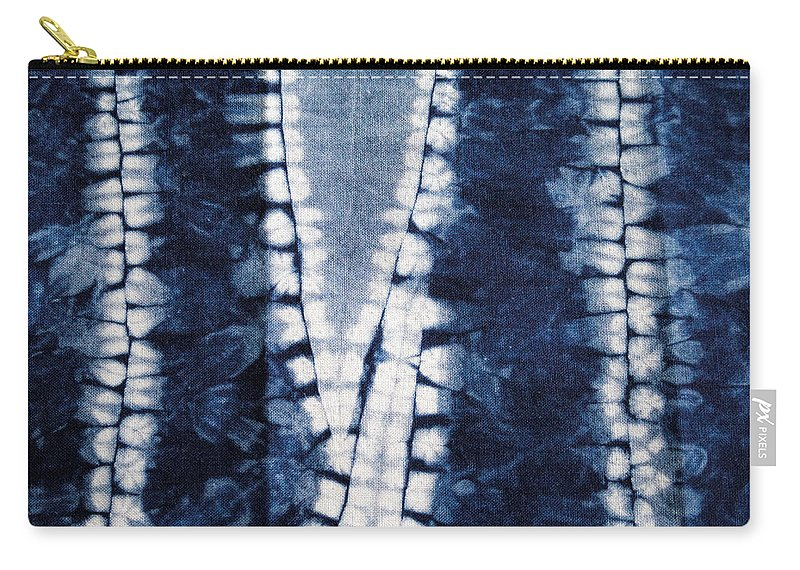 Aimee Stewart Carry-all Pouch featuring the painting Shibori 3 by MGL Meiklejohn Graphics Licensing