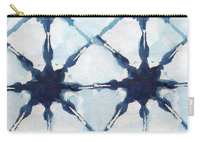 Shibori Carry-all Pouch featuring the digital art Shibori II by Elizabeth Medley