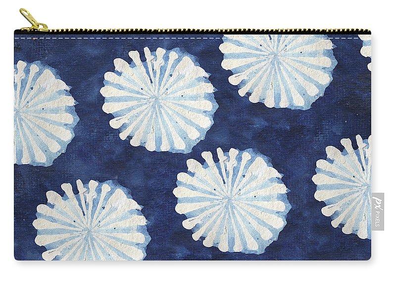 Shibori Carry-all Pouch featuring the digital art Shibori IIi by Elizabeth Medley