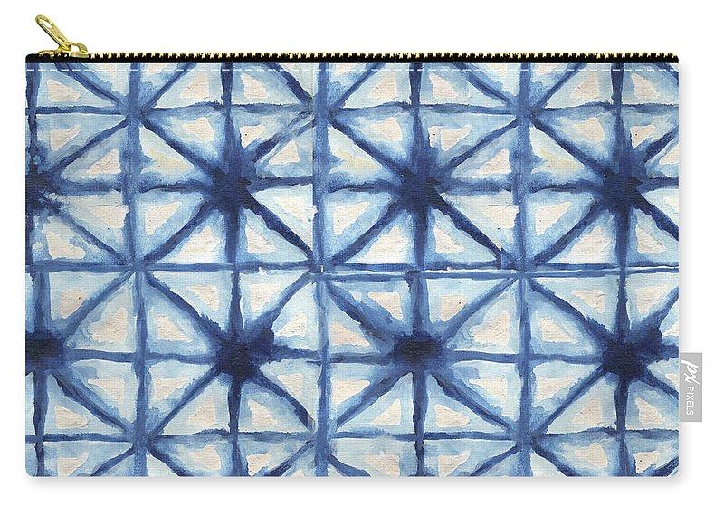 Shibori Carry-all Pouch featuring the digital art Shibori Iv by Elizabeth Medley