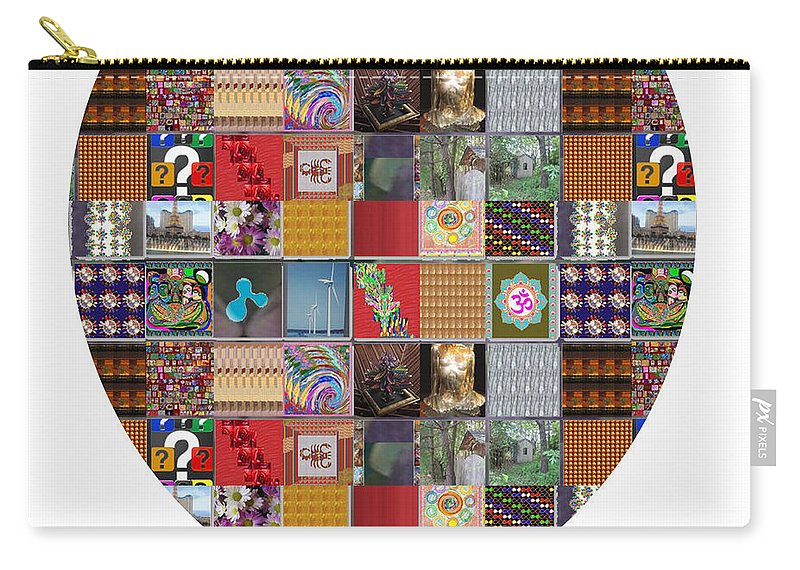 Shield Carry-all Pouch featuring the painting Shield Armour Yin Yang Showcasing Navinjoshi Gallery Art Icons Buy Faa Products Or Download For Self by Navin Joshi