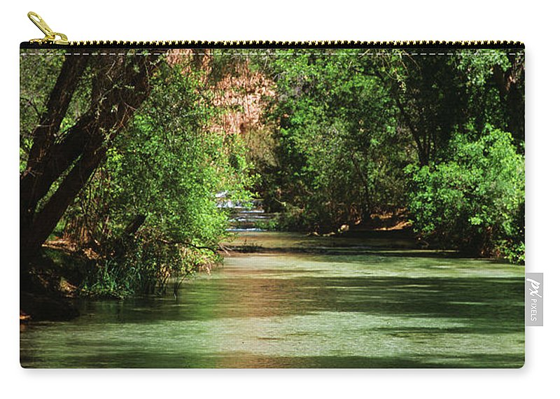 Havasupai Carry-all Pouch featuring the photograph Shimmering by Kathy McClure