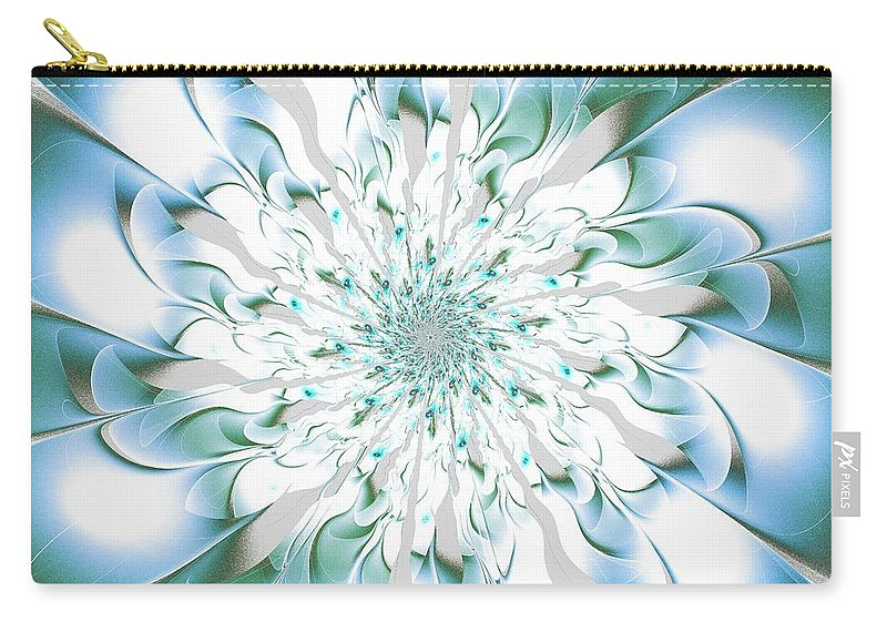 Flower Carry-all Pouch featuring the digital art Shining Beauty by Anastasiya Malakhova