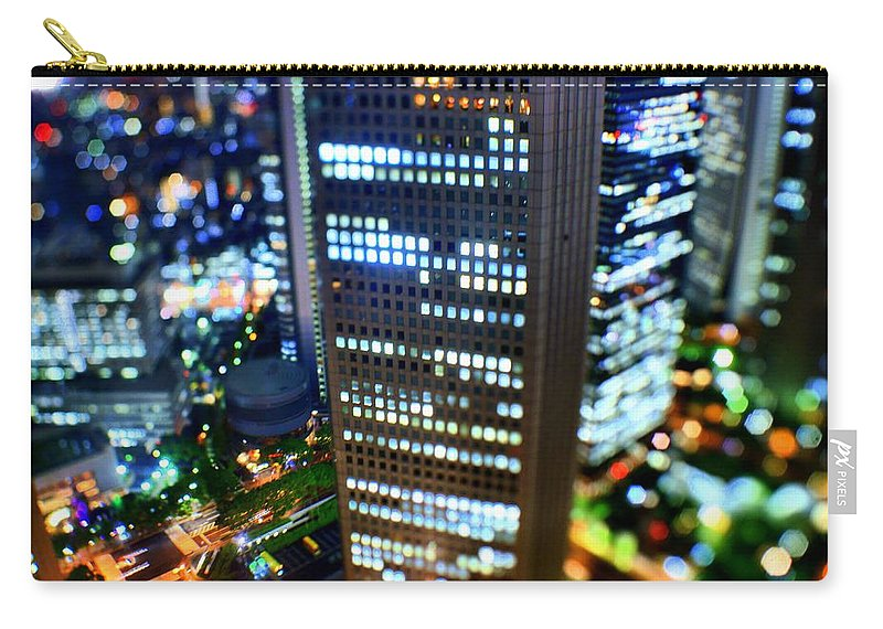 Built Structure Carry-all Pouch featuring the photograph Shinjuku by Takashi Kitajima