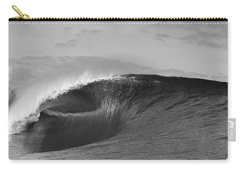 Sea Wave Carry-all Pouch featuring the photograph Shiny Tunnel by Sean Davey
