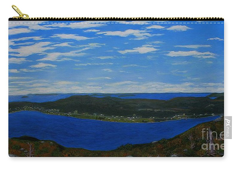 Barbara Griffin Carry-all Pouch featuring the painting Ship Harbour From Sugarloaf Hill by Barbara Griffin