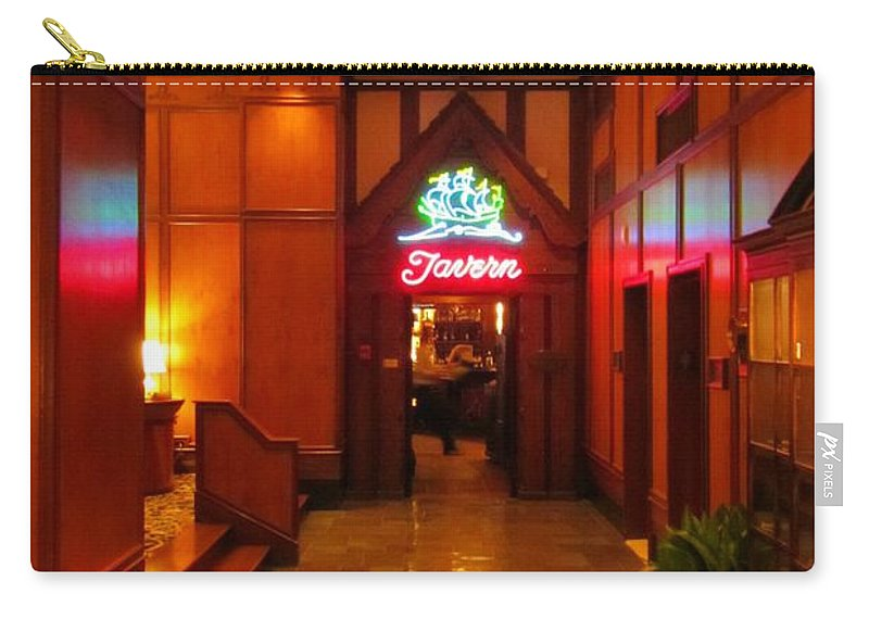 Taverns Art Carry-all Pouch featuring the photograph Ship Tavern by John Malone