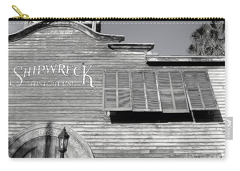 Architecture Carry-all Pouch featuring the photograph Shipwreck 2 by Anita Lewis