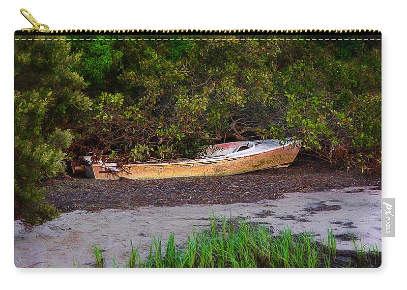 Crystal Carry-all Pouch featuring the photograph Shipwreck by Bill Cannon