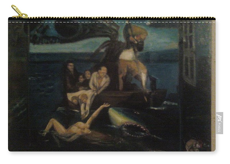 Carry-all Pouch featuring the painting Shipwrecked Psyche Unfinished by Jude Darrien