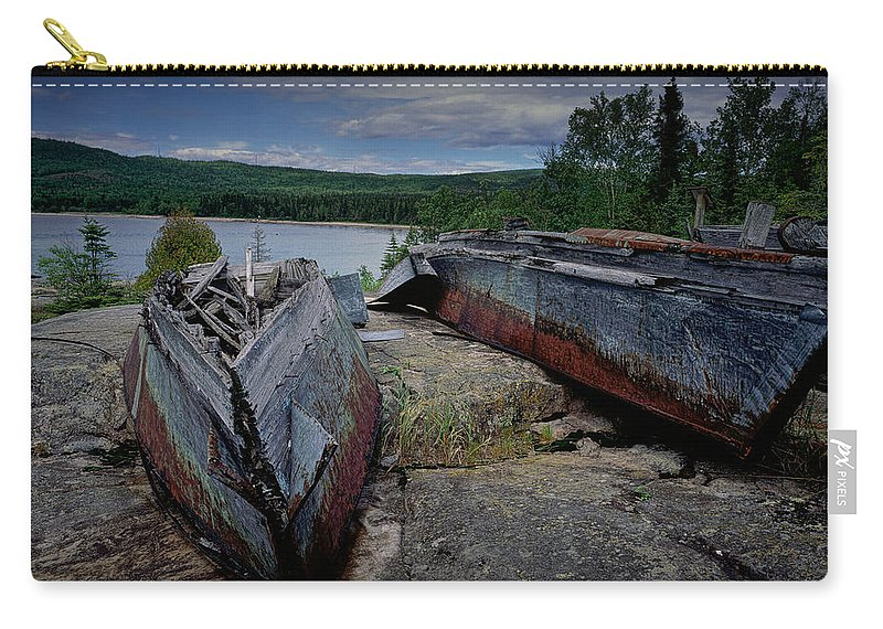 Art Carry-all Pouch featuring the photograph Shipwrecks At Neys Provincial Park No.3 by Randall Nyhof