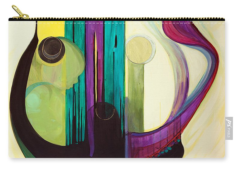 Judaic Carry-all Pouch featuring the painting Shir Lamaalot Psalm 121 by Marlene Burns